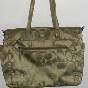 Coach olive green travel bag